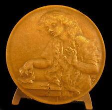 Médaille L'Oiseau mort  de Jean-Baptiste Greuze peintre et dessinateur medal
