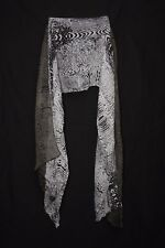 Oil Green White & Black Tiger & Crust Print Sophisticated Ladies' Scarf (S175B)