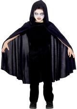 Bambini Halloween Mantello con cappuccio nero