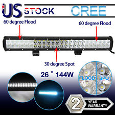 144W 22INCH CREE LED WORK LIGHT BAR COMBO FOG DRIVING FOGLIGHT