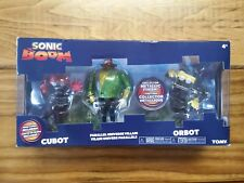 SEGA Sonic Boom Figure Articulated Cubot Orbot Parallel Universe 3 Pack Metallic