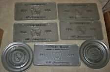 New ListingPewter Lot 8 Lbs. Of Wilton Pewter Plate Round & Rectangular