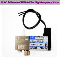 MAC 34B-AAA-GDNA-1BA Pneumatic Solenoid Valve DC 12V 3-Way High-frequency Valve