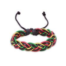 Leather Bracelet Adjustable Size Handmade Lace Up Clasp L481