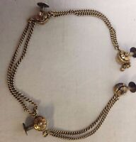 Victorian Mens Shirt Waistcoat Buttons Metal Chain Decoration Marked Signed R