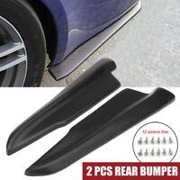 Pair Rear Bumper Spats Splash Guard Extend Valance Lip Diffuser Polyurethane