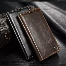 Para Apple iPhone 5se 5s se Estuche Magnético Abatible Cuero Billetera Cubierta De Lujo Gruesa