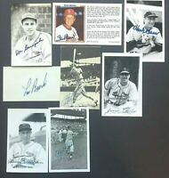 St Louis Cardinals Lot 8 Signed Postcards Stan Musial Lou Brock Harry Brecheen!!