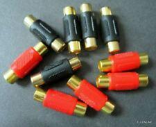 RCA 2F Female to Female Plug Connector Adapter Audio AV #GTN x 10 pcs