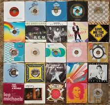 ROCK AND ROLL POP LARGE LOT #3 45 RPM ORG SLEEVES Elvis Bowie McCartney Ringo