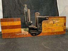Union Hardware Co. Perfection Miter Box. original label - no saw -