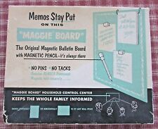 "Vintage ""Maggie Board"", The Original Magnetic Bulletin Board, With Box & Magnets"
