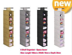 8 level Pocket Storage Hanging Organizer Warerobe Shoes Rack Closet AU  -