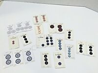 Lot of 22 LA MODE BUTTONS on Full or Partially Full Cards Various Color & Sizes