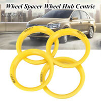 4 Wheel Spacer Center Spigot Hub Centric Rings 66.6mm - 57.1mm For VW AUDI SKODA