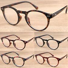 Oval Clear Lens Keyhole Fashion Glasses Women's Mens Vintage Retro