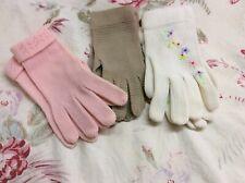 Vintage Spring Knit Gloves, 100% Nylon Stretch, 3 Pair Vanity Glove & Lee Begman