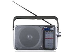 QFX R-24 AM/FM/SW1/SW2 Retro-Styled 4-Band Mini Radio +Built-in Speaker