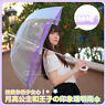 Anime Sailor Moon Tsukino Usagi Printing Transparent Purple Long Handle Umbrella