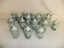 C4 Porcelain Spode The Archive Collection Set of 17 spice/herbs jars & lids 8D2B