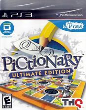 Sony PS3 Pictionary Ultimate Edition Video Game for uDraw Tablet Artistic Action