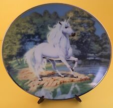 Franklin Mint Steve Read Collectible Plate Reflections The Diamond Unicorn Box
