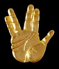 Vtg Star Trek Officer Spock Vulcan Hand Salute Live Long And Prosper Pin Nimoy