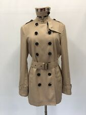 Burberry Brit  Classic  Trench Double-breasted Coat Jacket size 10 Beige $895