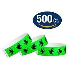 Paper Wristband Tyvek Armband Bracelet Green Frogs Waterproof Ink Secure Party