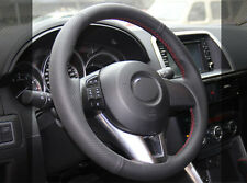 Leather Steering Wheel Cover for Mazda 3 6 M6 CX-3 CX-5 CX5 2013 2015 2016 2017