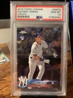 2018 Topps Chrome Update GLEYBER TORRES PSA 10 GEM MINT Rookie Card RC HMT80