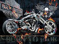 DIY 5D Diamond Painting Skull Wing Motorcycle Full drill Fashion Handicraft 6056