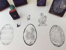 Set Of Vintage Rubber Stamps Made In Poland - Easter Collection