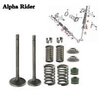 For Honda XR200 XL185S ATC200S/X/E/ES Cylinder Head Intake Exhaust Valve kit