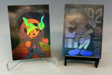 DISNEY COLLECTOR CARDS 1991 SERIES 1 Complete HOLOGRAM Chase Card Set of 2