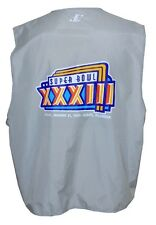 SUPER BOWL XXXIII 1/31/99 FIELD PHOTOGRAPHER WORN VEST BRONCOS vs FALCONS MIAMI