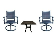 Patio bistro table and chairs outdoor swivel rocker chair set cast aluminum