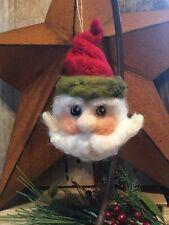 Handcrafted Needle Felted Wool Santa Ornament-Christmas-Holida y
