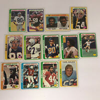 TOPPS Lot of 13 Vintage Topps NFL Football 1970's Trading Cards