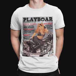 Miss Piggy Playboy T-Shirt - Animal Kermit Muppets Cool Retro Cartoon Xmas Gift