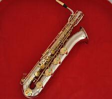 Professional Silver gold Eb Baritone Saxophone TaiShan Sax Low A Key High F# New