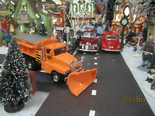 "TRAIN GARDEN HOUSE VILLAGE  "" SNOW PLOW SALT TRUCK "" + DEPT 56/LEMAX info"