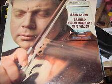 "LP 12"" ISAAC STERN BRAHMS VIOLIN CONCERTO IN D MAJOR COLUMBIA 6 EYE VG+ ORMANDY"