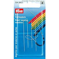 PRYM PEARL SEWING BEADING NEEDLES WITH GOLD EYE, 4 PIECES (124 350) FREE P&P