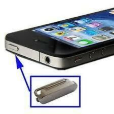 TASTO pulsante POWER ON OFF ACCENSIONE RICAMBIO PER IPHONE 4 4g ARGENTO CROMATO