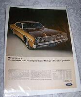 Vintage Original Ad Advertising Print Art 1968 fORD MERCURY CAR