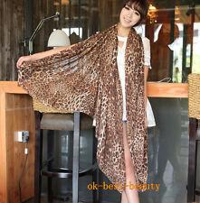 Korean Style Leopard Print Chiffon Warm Autumn Winter Pashmina Shawl/Wraps/Scarf
