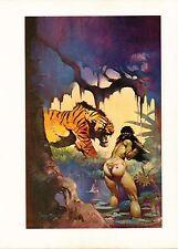 "1977 full Color Plate ""Escape On Venus"" by Frank Frazetta Fantastic GGA"