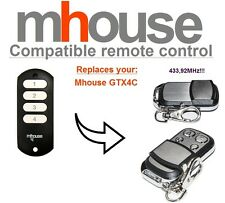 MHouse GTX4C compatible remote control transmitter, 433,92 MHz 4-channel