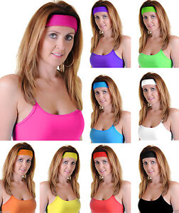 Unisex Stretchable Gym Toweling Elastic Sports Sweat Headband red pink black